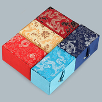 Cardboard Pendant Box, with Satin & Resin, Rectangle, different designs for choice, 65x105x60mm, 10PCs/Lot, Sold By Lot
