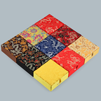 Cardboard Bracelet Box, with Glue Film & Satin & Satin Ribbon, Square, more colors for choice, 120x120x45mm, 10PCs/Lot, Sold By Lot