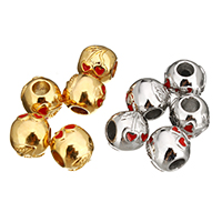 Stainless Steel European Beads, plated, without troll & enamel, more colors for choice, 10.50x11.50x12mm, Hole:Approx 4.6mm, 5PCs/Lot, Sold By Lot