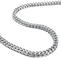 Stainless Steel Chain Necklace wheat chain original color 3.90x3.90mm Sold Per Approx 24 Inch Strand