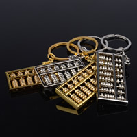 Key Chain, Zinc Alloy, with iron ring, Abacus, plated, different size for choice & different styles for choice, more colors for choice, lead & cadmium free, Hole:Approx 35mm, Sold By Strand