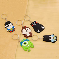 Key Chain Silicone with iron ring Cartoon different styles for choice 110x50mm