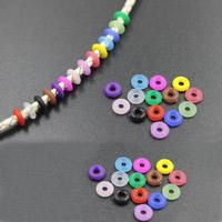 Силикон Позиционирование Tube, Кольцевая форма, Много цветов для выбора, не содержит никель, свинец, 6mm, отверстие:Приблизительно 2mm, 100ПК/сумка, продается сумка