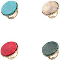 Кольца из полимерной смолы, цинковый сплав, с канифоль, плакирован золотом, Женский, Много цветов для выбора, не содержит свинец и кадмий, 29mm, размер:9, продается PC