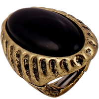 Resin Finger Ring Zinc Alloy with Resin antique gold color plated for woman lead   cadmium free 42mm US Ring Size:7.5