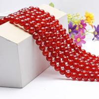 Luonnollinen punainen akaatti helmiä, Pyöreä, erikokoisia valinnalle, Pituus:N. 15.5 tuuma, N. 2säikeet/laukku, Myymät laukku