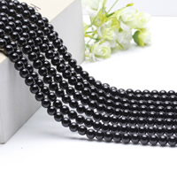 Natural Black Agate Beads, Round, different size for choice, Length:Approx 15.5 Inch, Approx 2Strands/Bag, Sold By Bag