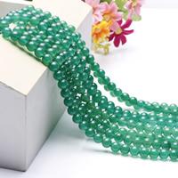 Natural Green Akaatti helmet, Pyöreä, luonnollinen, erikokoisia valinnalle, Pituus:N. 15.5 tuuma, N. 2säikeet/laukku, Myymät laukku