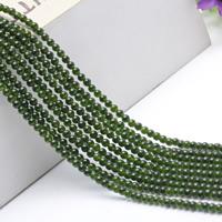 Jade helmiä, Vihreä Calcedony, Pyöreä, luonnollinen, 4mm, Pituus:N. 15.5 tuuma, N. 2säikeet/laukku, N. 95PC/Strand, Myymät laukku