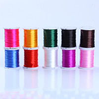 Crystal Thread, with plastic spool, elastic, more colors for choice, 1mm, Sold By Spool