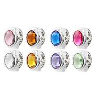Смотреть палец кольцо, цинковый сплав, с Стеклянный & канифоль, Платиновое покрытие платиновым цвет, Женский & граненый, разноцветный, не содержит никель, свинец, 15x10mm, размер:6-8, 2ПК/Лот, продается Лот