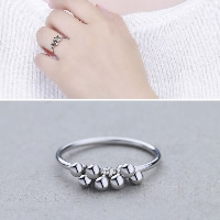 Sterling Silver Finger Rings 925 Sterling Silver for woman 2mm US Ring Size:7.5