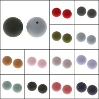 Бусины из пластика, PE пена, Круглая, разный размер для выбора, Много цветов для выбора, отверстие:Приблизительно 1mm, продается сумка