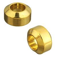 Stainless Steel European Beads, Rondelle, gold color plated, 7x11x11mm, Hole:Approx 6mm, 10PCs/Lot, Sold By Lot