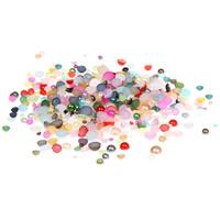 ABS пластик жемчужина кабошон, плоской задней панелью & разнообразный, 1.5-9mm, 6600ПК/сумка, продается сумка