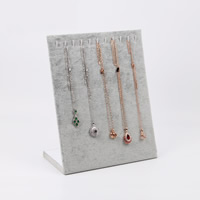Velveteen Necklace Display with Cardboard Rectangle 20x10.8x25cm