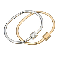 Пара браслет и браслет, нержавеющая сталь, Другое покрытие, Женский & с кубическим цирконием, Много цветов для выбора, 10mm, 4mm, внутренний диаметр:Приблизительно 60x43mm, продается PC