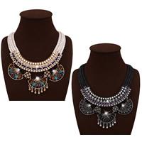 Мода себе ожерелье, пеньковый трос, с гросгрейнская лента & Кристаллы & цинковый сплав, с 3.5lnch наполнитель цепи, Другое покрытие, Женский & граненый & со стразами, Много цветов для выбора, не содержит никель, свинец, 85mm, Продан через Приблизительно 19.2 дюймовый Strand