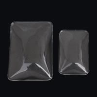 Кабошоны из стекла, Стеклянный, Прямоугольная форма, разный размер для выбора & плоской задней панелью, 5ПК/сумка, продается сумка