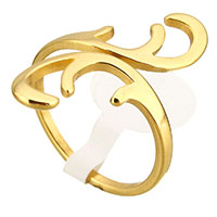 Stainless Steel Open Finger Ring gold color plated for woman 26mm US Ring Size:8