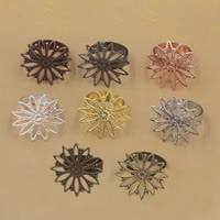 Brass Bezel Ring Base Flower plated adjustable nickel lead   cadmium free 26mm US Ring Size:6-9 20PCs/Bag