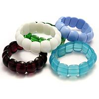 Смешанный материал браслет, Женский & разнообразный, 14x18x8mm, длина:Приблизительно 7 дюймовый, 10пряди/Лот, продается Лот