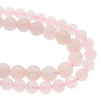 Природные Бисер розовый кварц, Круглая, натуральный, разный размер для выбора, Продан через Приблизительно 15.5 дюймовый Strand