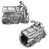 Европейские стильные бусины из нержавеющей стали, нержавеющая сталь, Мотоцикл, без Тролль & чернеют, 14x8.50x11mm, отверстие:Приблизительно 5mm, 10ПК/Лот, продается Лот