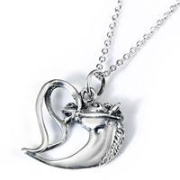 Серебряное ожерелье, Серебро 925 пробы, Лошадь, Овальный цепь & Женский, 21X20mm, 1.2mm, Продан через Приблизительно 18 дюймовый Strand