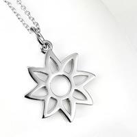 Серебряное ожерелье, Серебро 925 пробы, Форма цветка, Овальный цепь & Женский, 18x24mm, 1.2mm, Продан через Приблизительно 18 дюймовый Strand