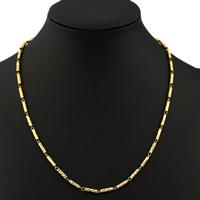 Цепочки из латуни, Латунь, плакирован золотом, Бар цепи, не содержит никель, свинец, 3mm, Продан через Приблизительно 17.5 дюймовый Strand