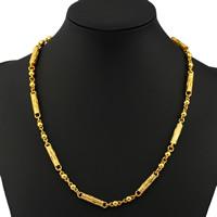 Цепочки из латуни, Латунь, плакирован золотом, Бар цепи, не содержит никель, свинец, 5mm, Продан через Приблизительно 19.5 дюймовый Strand