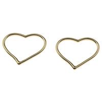Ювелирные кабошоны из цинкового сплава, цинковый сплав, Сердце, плакирован золотом, не содержит свинец и кадмий, 27x22x2mm, отверстие:Приблизительно 24x16.5mm, 200ПК/сумка, продается сумка