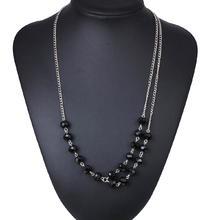 Акриловые ожерелья, цинковый сплав, с Акрил, с 5cm наполнитель цепи, плакирован серебром, Женский & двунитевая, не содержит свинец и кадмий, 580mm, Продан через Приблизительно 22.5 дюймовый Strand