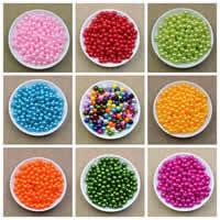 Бусины из пластика, пластик, Круглая, Много цветов для выбора, 8mm, отверстие:Приблизительно 2.2mm, Приблизительно 1800ПК/сумка, продается сумка