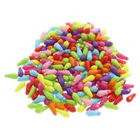 акриловые кулоны, Акрил, граненый & ровный цвет, разноцветный, 4x12mm, отверстие:Приблизительно 1mm, 500G/сумка, продается сумка