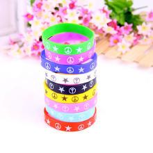 Резинка браслет на запястье/щиколотку, Мужская, разноцветный, 85x12mm, внутренний диаметр:Приблизительно 85mm, длина:Приблизительно 7.5 , 2пряди/Лот, продается Лот