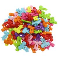 акриловые кулоны, Акрил, Бантик, ровный цвет, разноцветный, 25x29x4mm, отверстие:Приблизительно 1.5mm, 500G/сумка, продается сумка