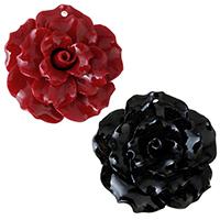 Подвески из смолы, канифоль, Форма цветка, Много цветов для выбора, 30x30x14mm, отверстие:Приблизительно 1.5mm, продается PC
