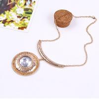 Ожерелье Мода Choker, цинковый сплав, плакирован золотом, Овальный цепь & Женский, не содержит свинец и кадмий, 290mm, Продан через Приблизительно 11 дюймовый Strand