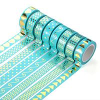 бумага Декоративные ленты, липкие & разнообразный & бронзирование, 15mm, 10ПК/сумка, Приблизительно 10м/PC, продается сумка