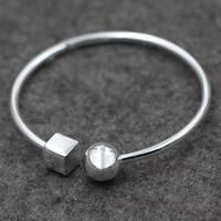 Серебро 925 пробы браслет-манжеты, Женский, 3mm, внутренний диаметр:Приблизительно 60mm, продается PC