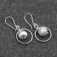 Серебро 925 пробы Сережка, Женский, 19x39mm, продается Пара
