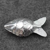 Кулоны из серебра, Серебро 925 пробы, Рыба, 51x34mm, отверстие:Приблизительно 5mm, продается PC