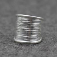 Серебро 925 пробы Манжеты палец кольцо, 20mm, размер:7, продается PC