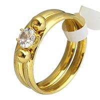 нержавеющая сталь Комплект прокладок, кулон & серьги, с Кристаллы, плакирован золотом, разный размер для выбора & Женский, 12.5x5mm, 3mm, 2ПК/указан, продается указан