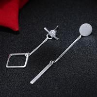 Цирконий Micro Pave латунь Серьги, Латунь, плакированный настоящим серебром, не содержит свинец и кадмий, 40-50mm, продается Пара