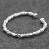 Серебро 925 пробы браслет-манжеты, Женский, 5mm, внутренний диаметр:Приблизительно 60mm, продается PC