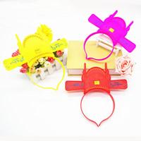 пластик Повязка для волос, для детей & LED, Много цветов для выбора, 215x220mm, 3ПК/сумка, продается сумка