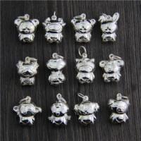 Подвески из настоящего балийского серебра, Таиланд, разнообразный, 13-19x18-21.5mm, отверстие:Приблизительно 2mm, 5ПК/Лот, продается Лот